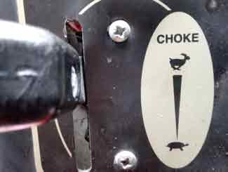 Honda choke lever