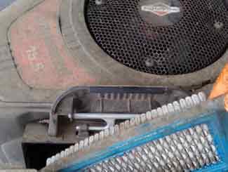 Dirty mower air filter