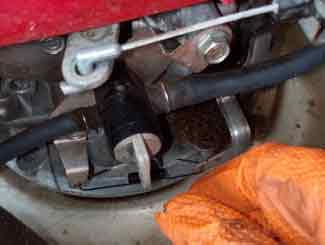 Mower gas tap