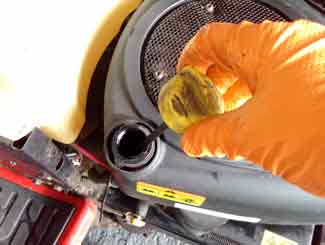Tractor mower engine