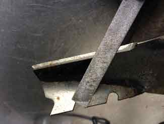 Mower blade sharpening