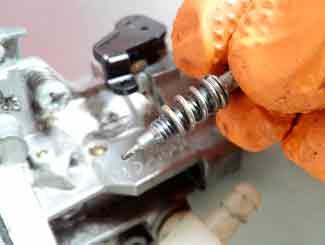 Fuel air screw