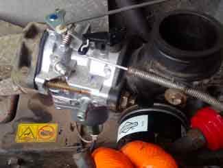 Fitting carburetor