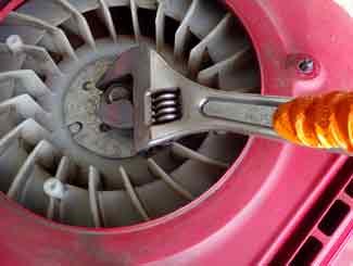 Ride-on mower engine fan