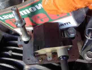 Fitting mower armature