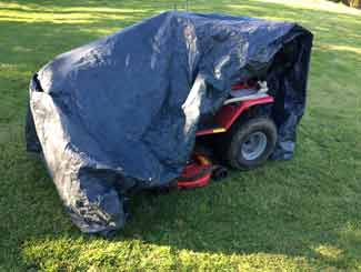 Tractor mower covered