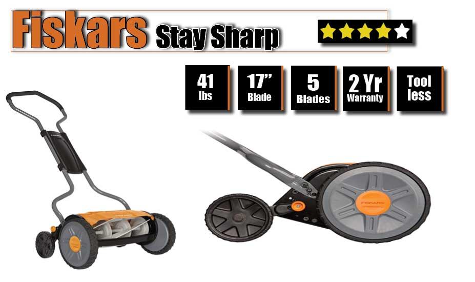Fiskars manual push mower