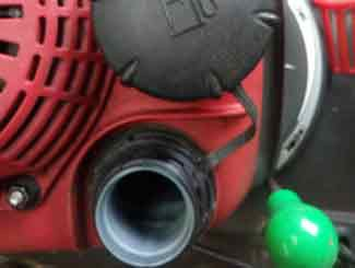 Mower gas tank