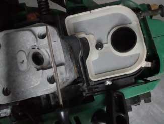 Mower air filter check