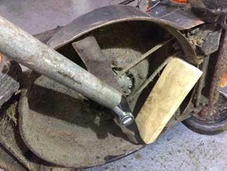 mower blade stuck