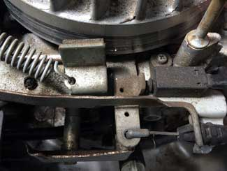 lawn mower flywheel brake assembly