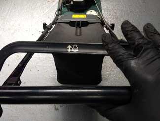 Mower bail lever