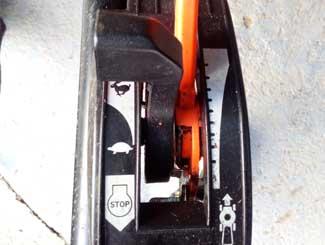 Honda mower throttle lever