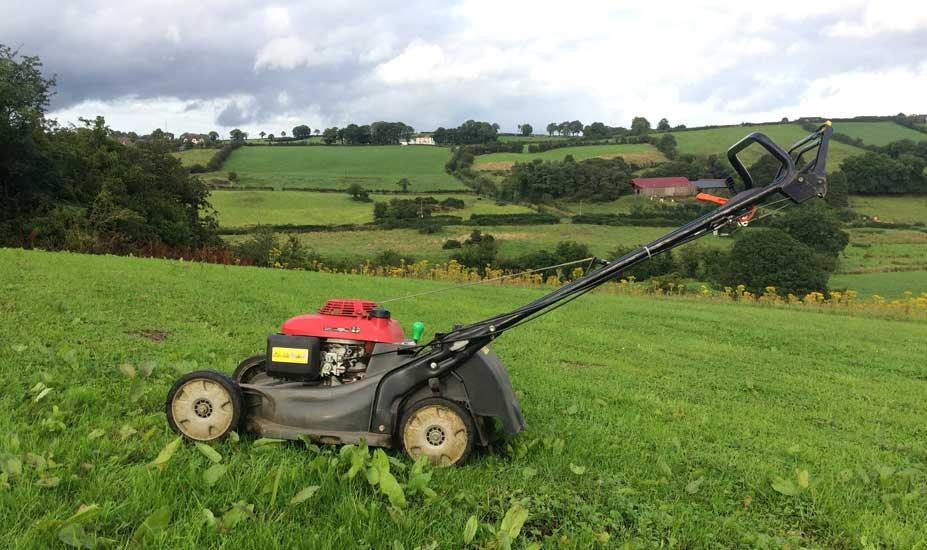 Pushing self propelled mower