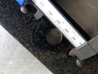 Mower blade measuring