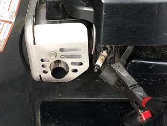 Pulling Toro plug wire to shut it off