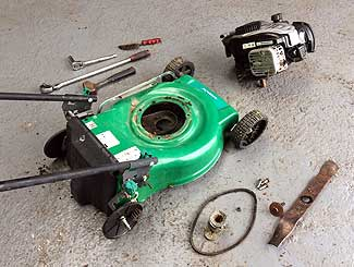 Lawn mower engine swap