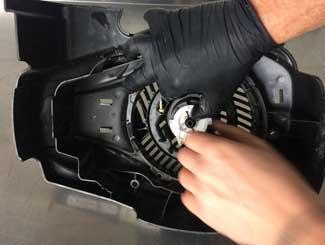 Mower pull assembly repair
