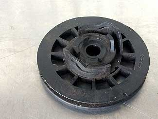 Mower pull assembly pulley