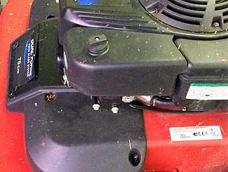 Mower air filter cover