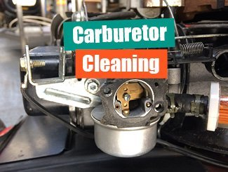 Mower carburetor cleaning