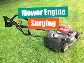 Mower engine surging