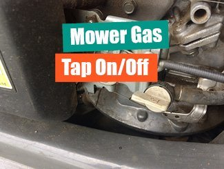 Mower gas tap