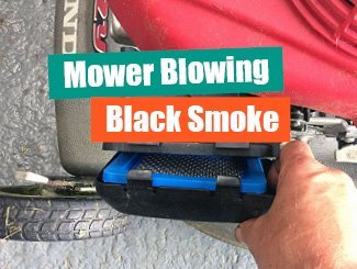 Mower black smoke