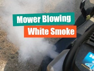 Mower white smoke