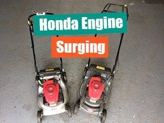 Honda mower surging