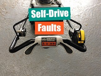 Mower self-drive faults