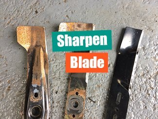Mower sharpen blade