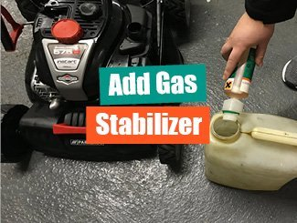 Riding mower oil check
