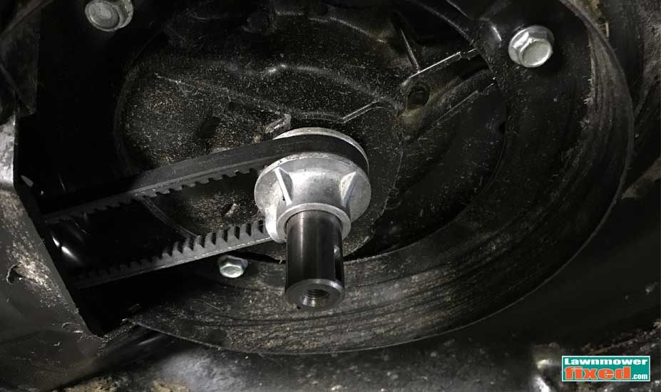 Mower crankshaft pulley
