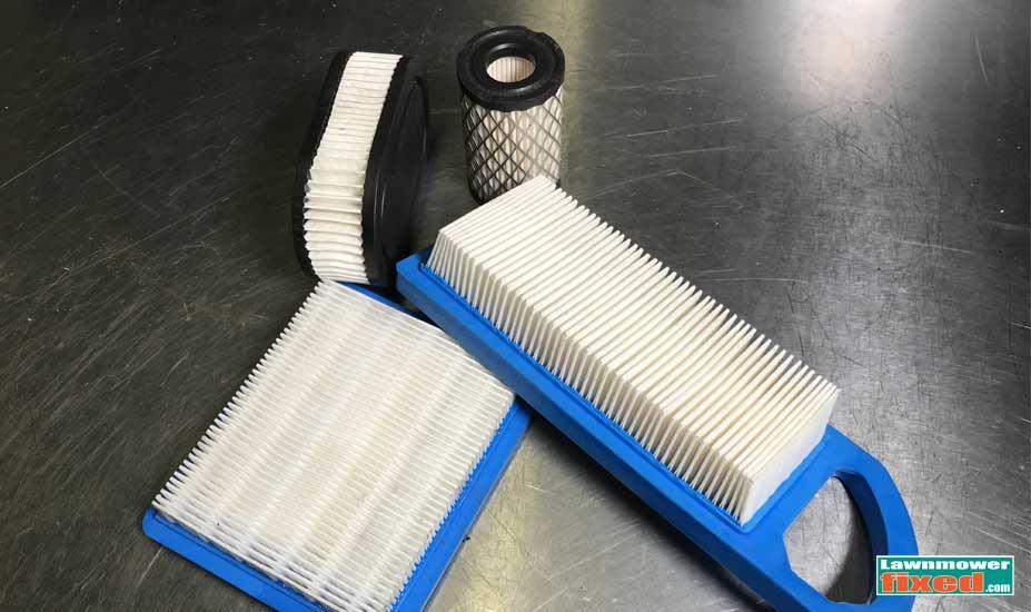 Paper mower air filter