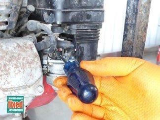 Removing Honda generator engine idle screw