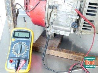 Low oil level sensor testing