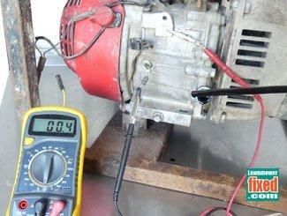 Oil level sensor testing