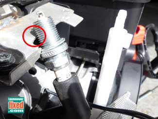Grounding spark plug