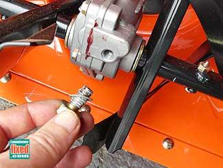 Snowblower auger gearbox check