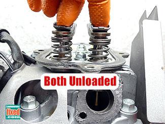 Unloaded valve springs