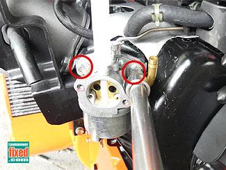 Remove carburetor fasteners
