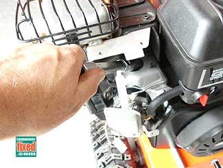 Remove spark plug