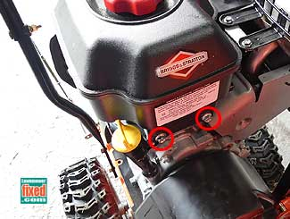Gas tank fasteners