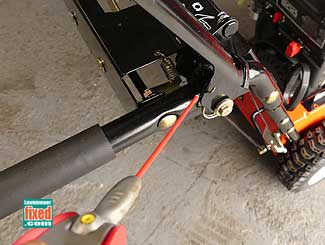 Spray snowblower cable controls