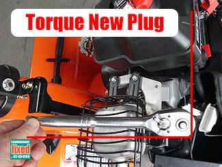 New spark plug torque