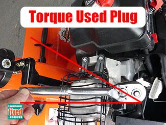 Used spark plug torque