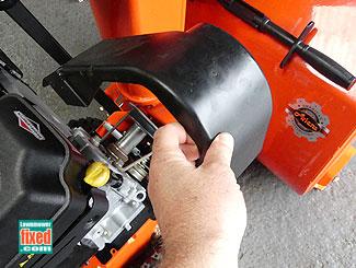 Snow blower belt cover