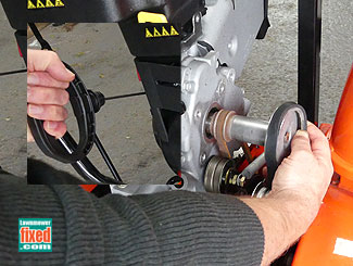 Belt off pulley