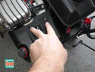 Carburetor intake cover
